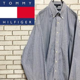 トミーヒルフィガー(TOMMY HILFIGER)の【レア】トミーヒルフィガー☆ フラッグタグ入りブルーストライプ柄ビッグシャツ(シャツ)