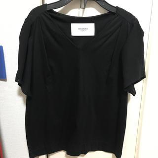 ステュディオス(STUDIOUS)のSTUDIOUSのトップス 半袖 黒(カットソー(半袖/袖なし))