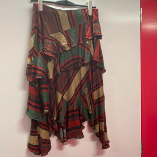 ラルフローレン(Ralph Lauren)のラルフローレン チェックフリルスカート(ロングスカート)