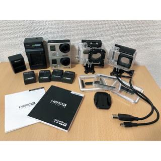 ゴープロ(GoPro)のGopro HERO3 2個セット 付属品付(コンパクトデジタルカメラ)