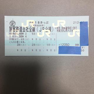 青春18切符、5回分(鉄道乗車券)