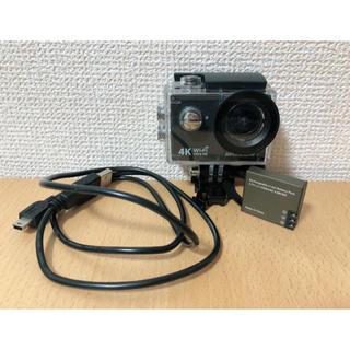 ゴープロ(GoPro)のMUSON アクションカメラ ケース付(コンパクトデジタルカメラ)