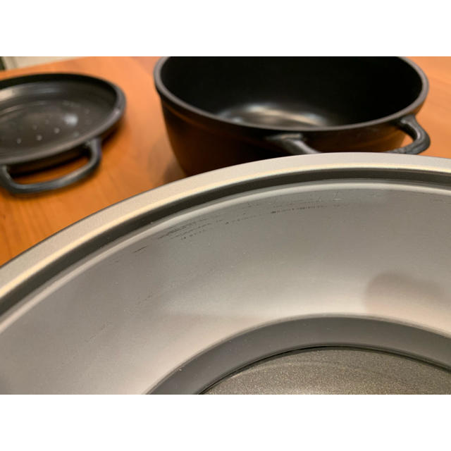 Vermicular(バーミキュラ)のRYOMA様専用 バーミキュラ ライスポット 5号炊き RP23A-SV スマホ/家電/カメラの調理家電(炊飯器)の商品写真