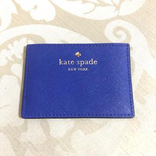 ケイトスペードニューヨーク(kate spade new york)のKateSpade ケイトスペード カードケース 青(パスケース/IDカードホルダー)