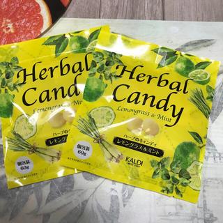 12◇カルディ ハーブのキャンディ レモングラス & ミント 2袋(菓子/デザート)