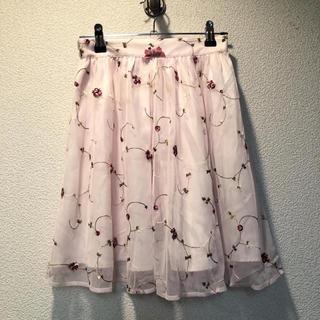 アンクルージュ(Ank Rouge)の花柄チュールスカート(ミニスカート)