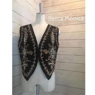 サンタモニカ(Santa Monica)の古着 ベスト 刺繍 ヴィンテージ サンタモニカ グリモワール トゥディフル(ベスト/ジレ)