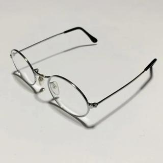 ゾフ(Zoff)のシルバーフレーム 伊達眼鏡 白山眼鏡 zoff ゾフ jins ジンズ hare(サングラス/メガネ)