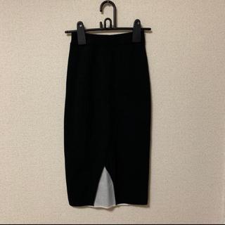 マウジー(moussy)の《moussy》リブニットスカート(ひざ丈スカート)