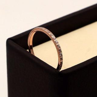711★ CZダイヤモンド 幅1mm極細フルエタニティリング(リング(指輪))