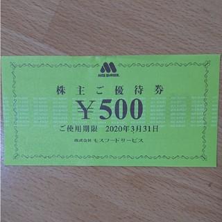 モスバーガー株主優待券(フード/ドリンク券)