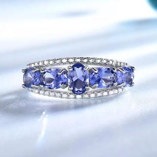 ❣️宝石質 タンザナイト リング 18号❣️(リング(指輪))
