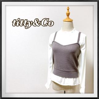 ティティアンドコー(titty&co)のtitty&Co. レイヤードブラウス(シャツ/ブラウス(長袖/七分))