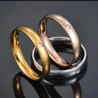 ステンレスリング 丸一粒 メンズリング レディースリング(リング(指輪))