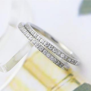 極細 半キラリング ステンレスリング  ステンレス指輪 ピンキーリング(リング(指輪))