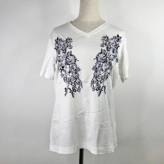 エポカ(EPOCA)のエポカ ティーシャツ カットソー 刺繍 半袖 ホワイト トップス サイズ48(Tシャツ(半袖/袖なし))