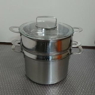 イケア(IKEA)の【中古】IKEA  蒸し器・パスタインサート 鍋セット(鍋/フライパン)