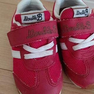 ダブルビー(DOUBLE.B)のダブルB  靴  15cm  赤(スニーカー)
