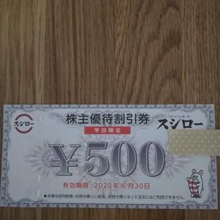 スシロー 株主優待 500円(レストラン/食事券)