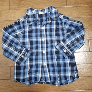 プティマイン(petit main)のプティマイン チェック柄シャツ(Tシャツ/カットソー)