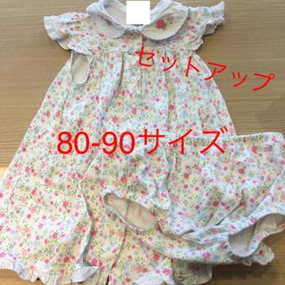 リトルミー(Little Me)のワンピース  セットアップ 80-90サイズ 女の子 夏服 半袖 ノースリ(ワンピース)