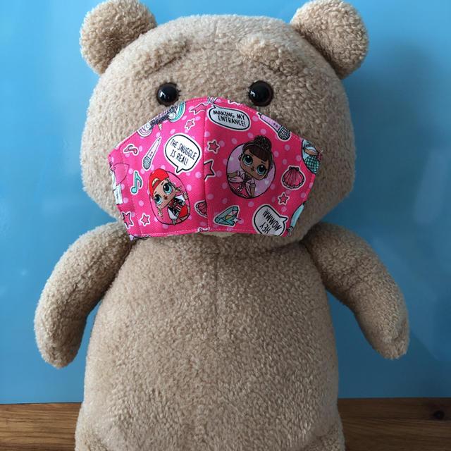 マスク ぼーっと | 子供用女子向け LOLサプライズ密着型立体マスク 【ハンドメイド】14の通販
