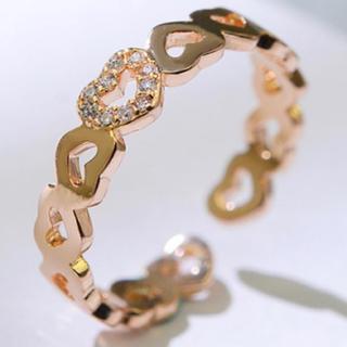 【SWAROVSKI】金属アレルギー対応 フリーサイズ 指輪 リング(リング(指輪))
