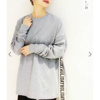 ホリデイ(holiday)の【HOLIDAY/ホリデイ】SUPER FINE DRY MINI DRESS(Tシャツ(長袖/七分))