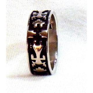 スコットデイブ作・新品」1980年代品・ナバホ族★スタンプワーク(リング(指輪))