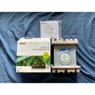 エイスース(ASUS)のASUS GREEN DVD-WRITER DRW-24D3ST(PC周辺機器)
