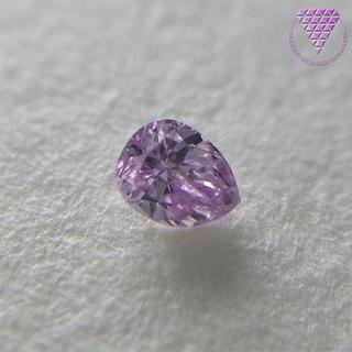 0.038 ct F. Int. Pink Purple I2 天然 ダイヤ(リング(指輪))