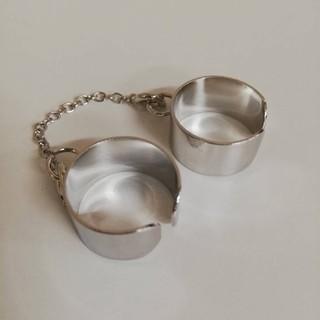 2連リング 指輪 フリーサイズ(リング(指輪))