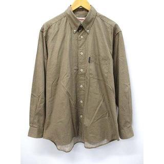 マックレガー(McGREGOR)のマックレガー マクレガー コットン ベージュ 小花 ボタンダウン シャツ(シャツ)