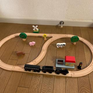 ボーネルンド(BorneLund)のBORNELUND 木製汽車セット(電車のおもちゃ/車)