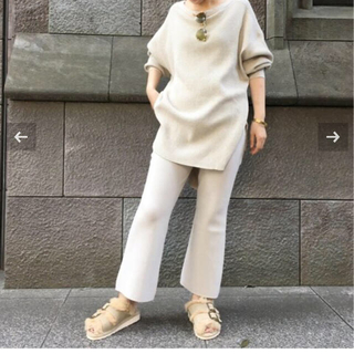 L'Appartement Cropped Knit パンツ