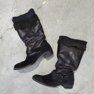 リミフゥ(LIMI feu)のLIMI feu リミフゥ リミフー ロングブーツ ブーツ ブラック LL(ブーツ)
