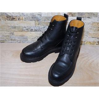 コールハーン(Cole Haan)のコールハーン グレインレザー アンクルブーツ 黒 27,5cm(ブーツ)