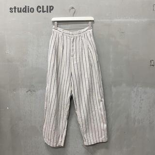 STUDIO CLIP - 【studio  CLIP】ストライプパンツ 麻綿 スタディオクリップ