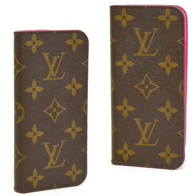 LOUIS VUITTON - ルイヴィトン iPhone7フォリオ スマホケース モノグラム ピンク カバーの通販