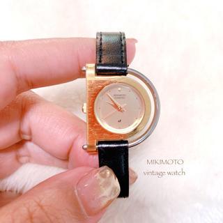 ミキモト(MIKIMOTO)の【MIKIMOTO】ゴールド腕時計 3針 レザーベルト 稼働品 ミキモト(腕時計)