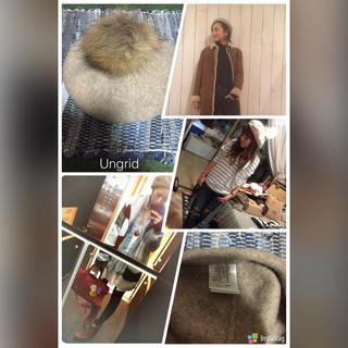 アングリッド(Ungrid)のUngrid ポンポンベレー帽 ベージュ(ハンチング/ベレー帽)