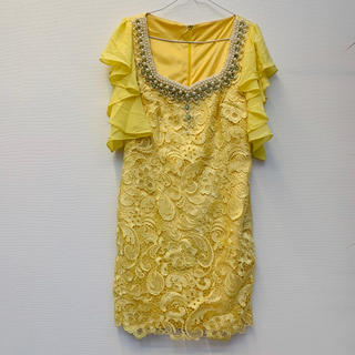 ジュエルズ(JEWELS)のjewels キラキラビジュー パール付きドレス ageha(ミニドレス)