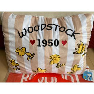 スヌーピー(SNOOPY)のスヌーピー スクエア クッション WOODSTOCK 1950 ウッドストック (クッション)