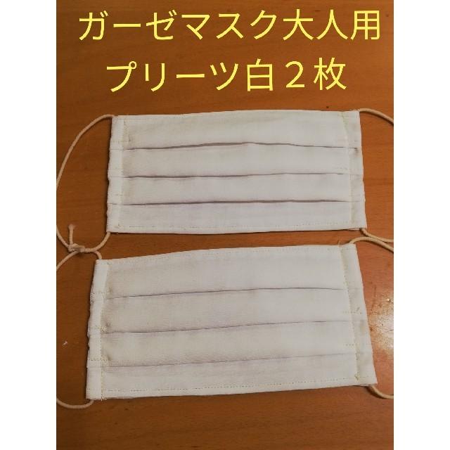 マスク 映画 / 立体ガーゼマスク 大人用 プリーツ 白2枚の通販