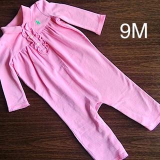 ポロラルフローレン(POLO RALPH LAUREN)の新品 ラルフローレン☆9M ロンパース ピンク カバーオール ベビー服(ロンパース)