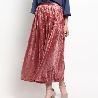 エージーバイアクアガール(AG by aquagirl)のベロアスカート(ロングスカート)