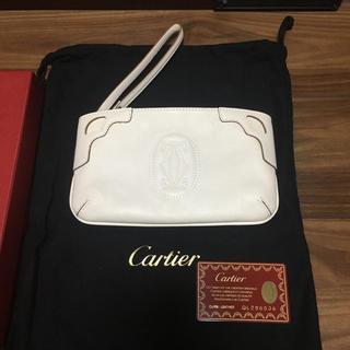 Cartier - カルティエ マルチェロ レザー ポーチ パーティ 結婚式 クラッチバッグ