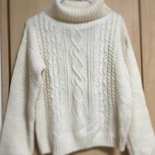 シマムラ(しまむら)の白セーター(ニット/セーター)