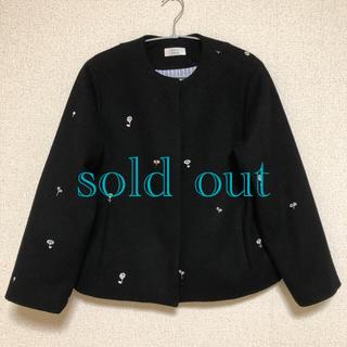 ヤエカ(YAECA)のatelier naruse/ 刺繍 ウール ノーカラージャケット(ノーカラージャケット)