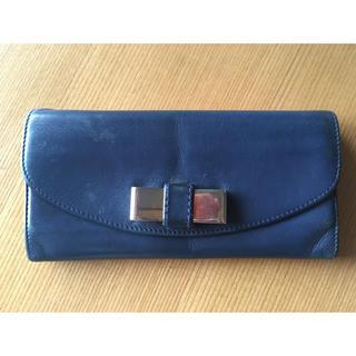 クロエ(Chloe)のChloeリリィ 紺色長財布(長財布)